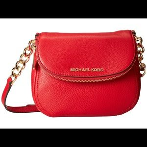NWT Michael kors Bedford red crossbody